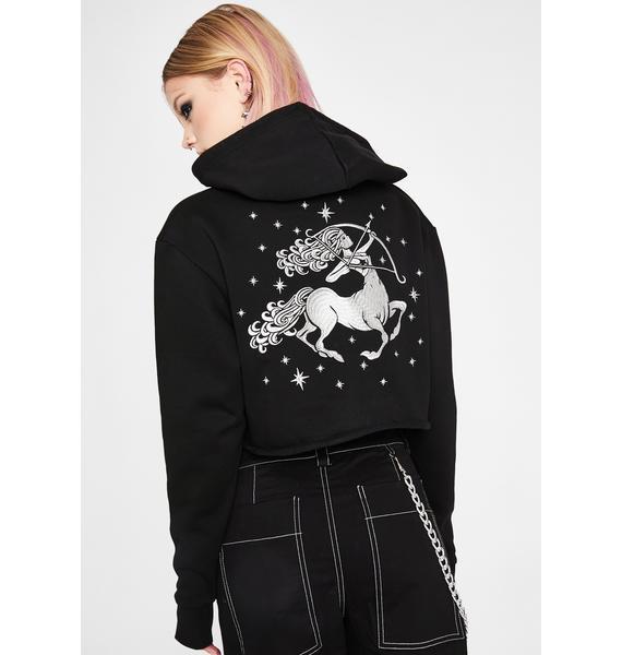 HOROSCOPEZ Sagittarius Magick Embroidered Hoodie
