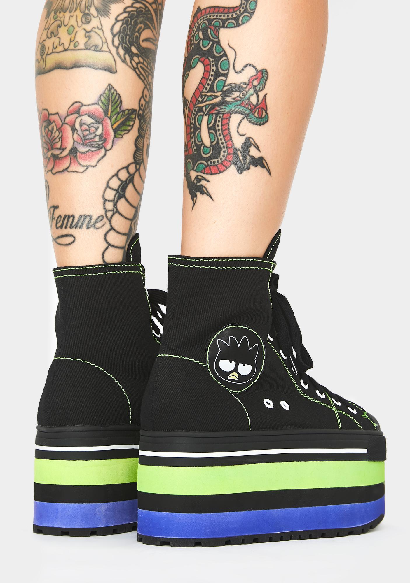 Dolls Kill x Hello Kitty Playin' It Cool Platform Sneakers