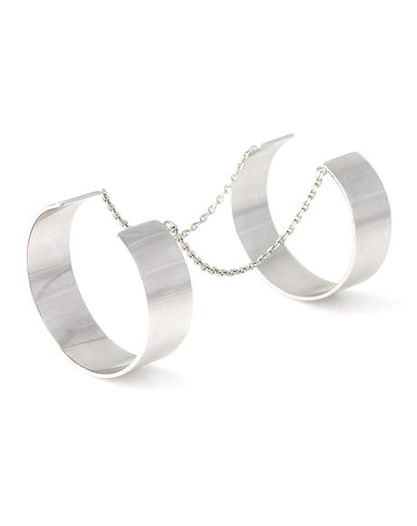 Anarchy Silver Double Cuff