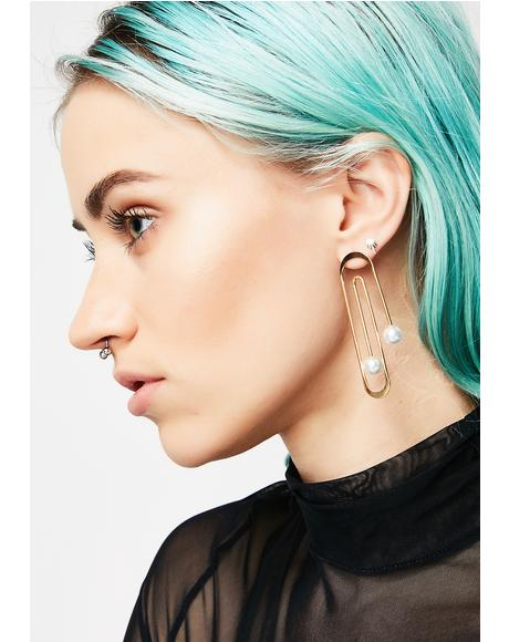 Fancy Paper Clip Earrings