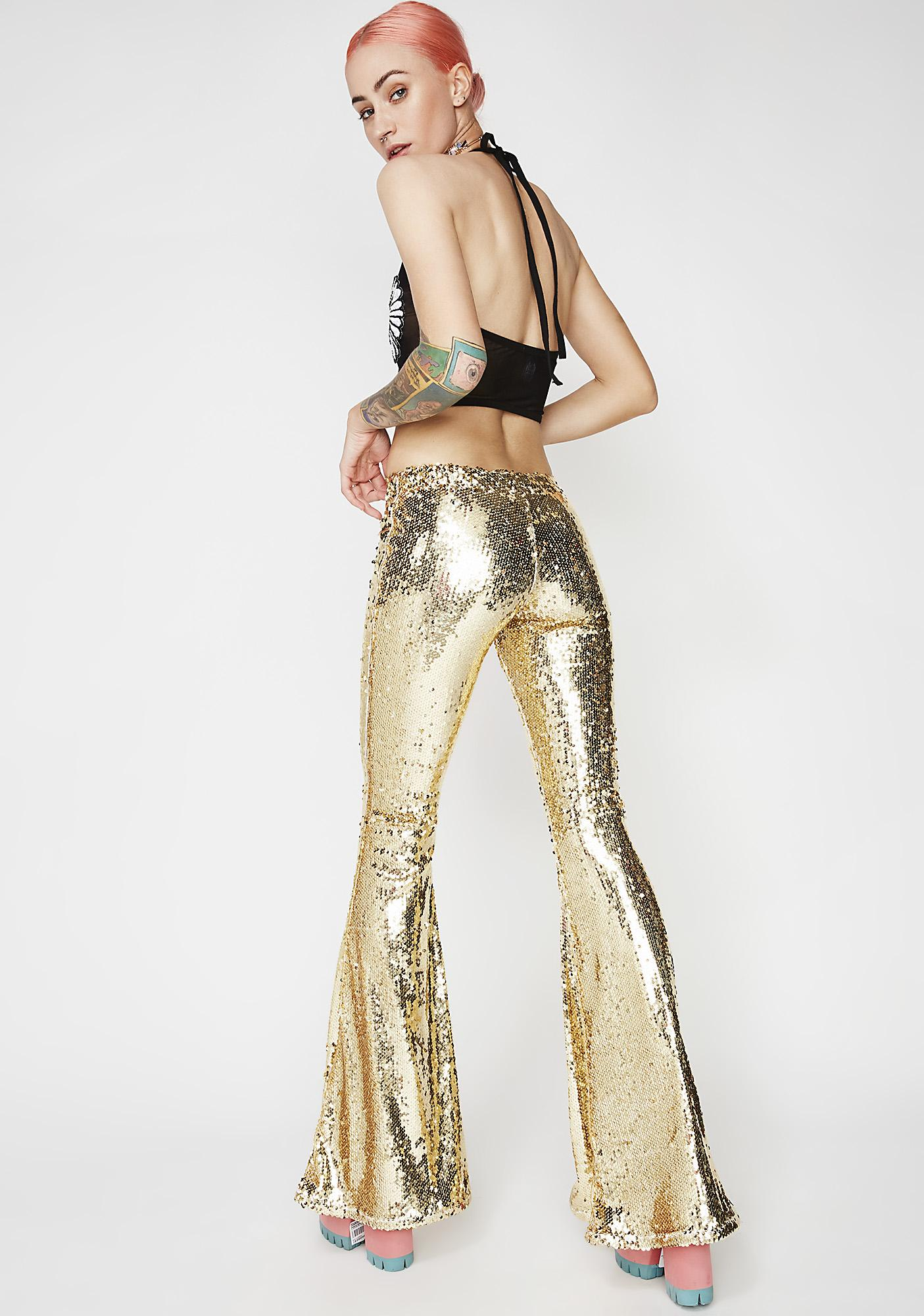 Club Exx Galactic Goddess Gold Bells