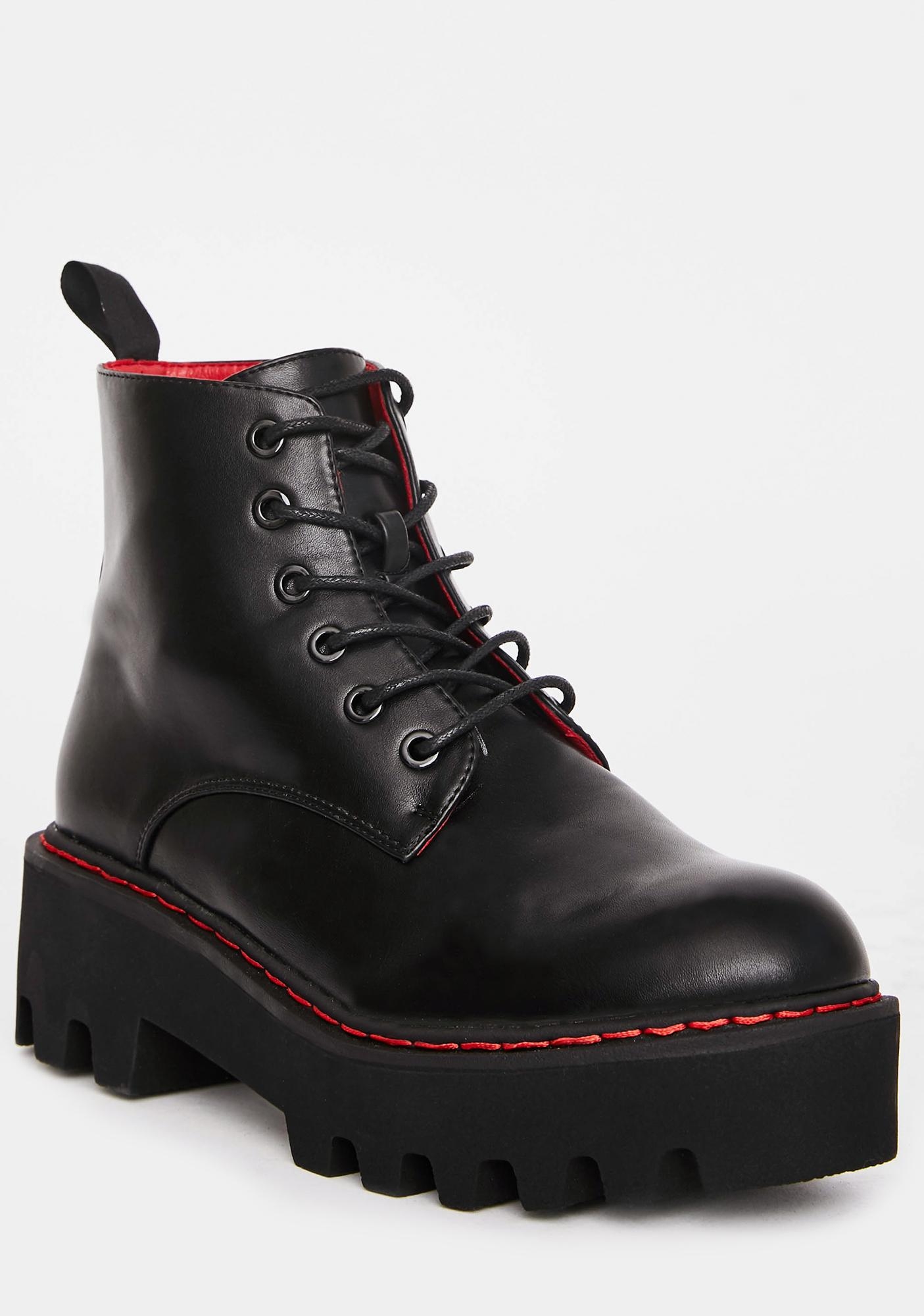 Lamoda Unforgiven Platform Ankle Boots
