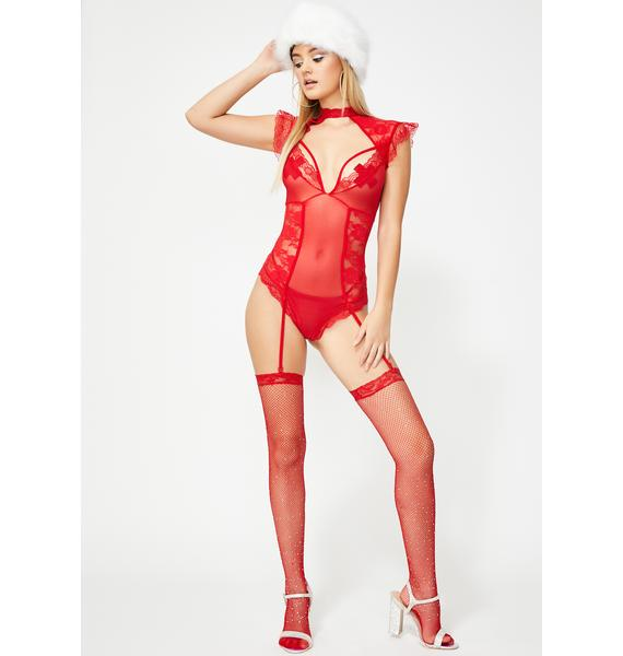 Fixated Desire Lace Teddy