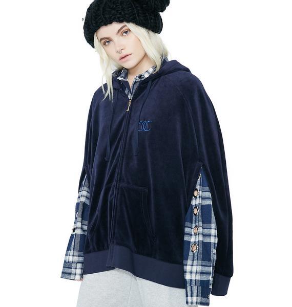 JUICY COUTURE Velour Cape Jacket
