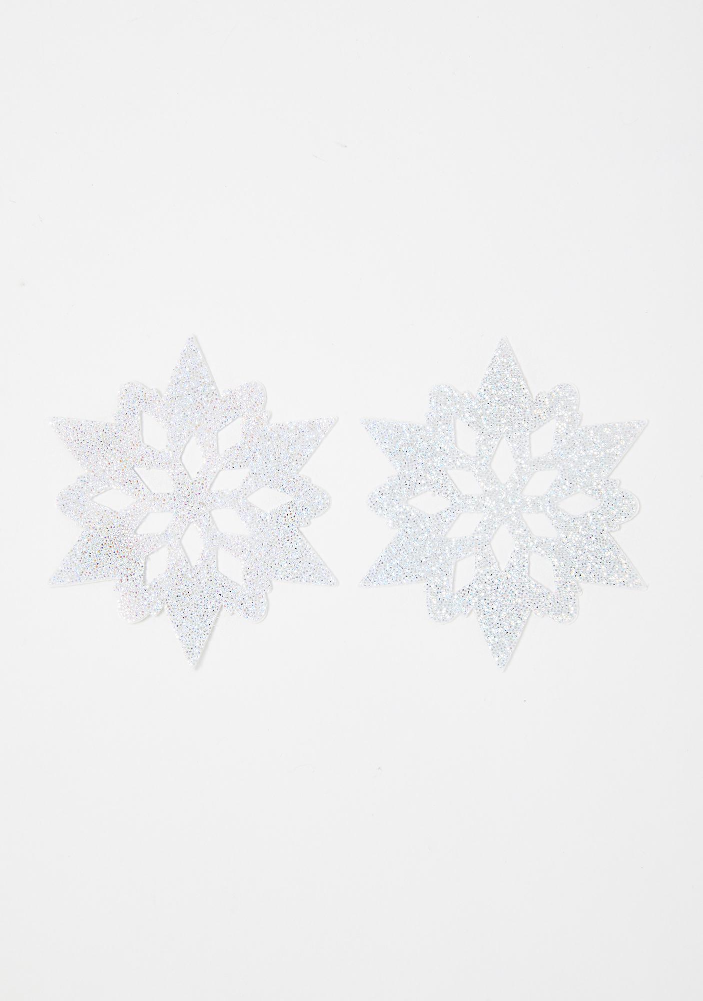 Pastease Snow White Glitter Snowflake Pasties