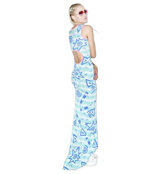 Mamadoux 80s Print Gown