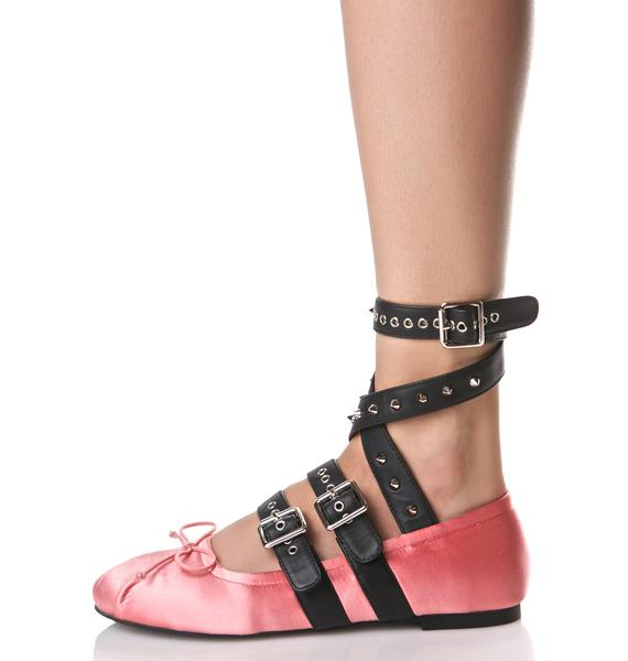 Sugar Thrillz Rosy Eleve Ballet Flats