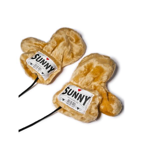 Little Sunny Bite Sunny Faux Fur Gloves