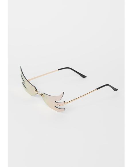 Bubblegum Above The Clouds Wing Sunglasses