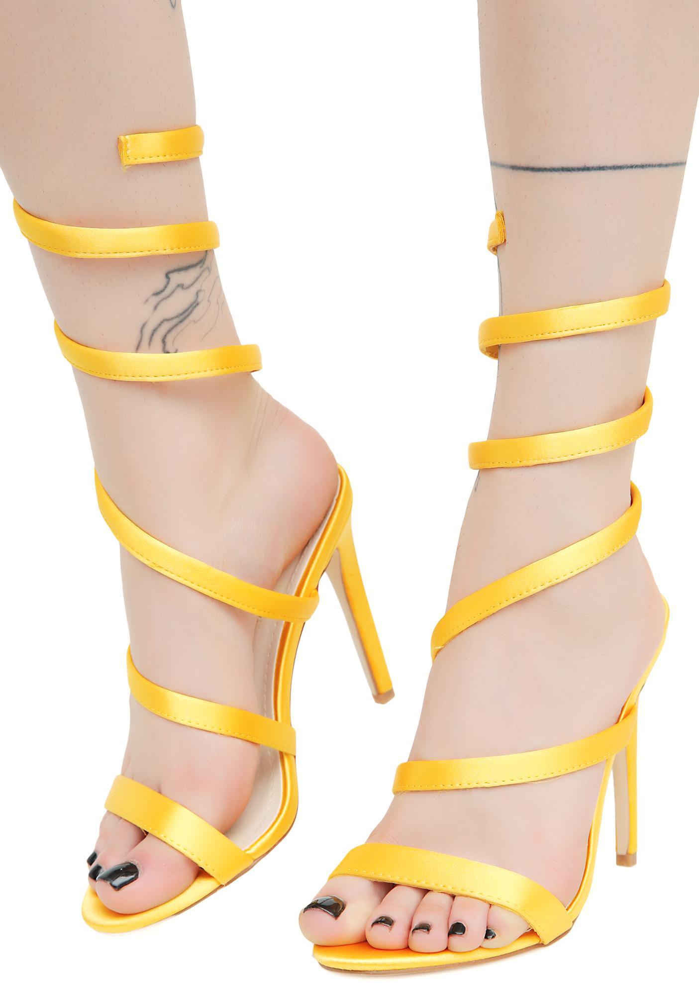 Sinister Slither Wrap Heels