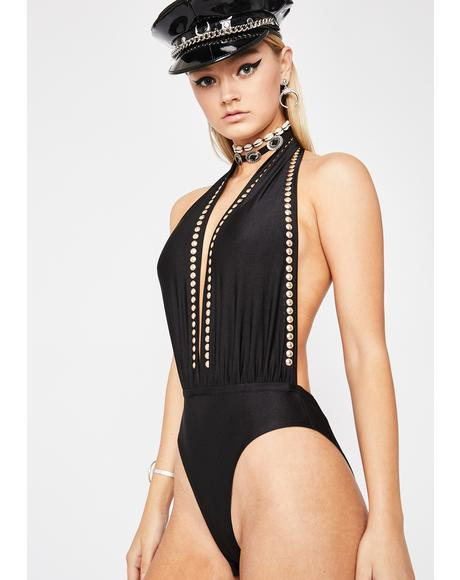 Rollin' High Backless Bodysuit