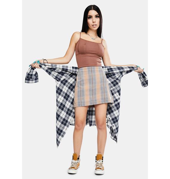 BDG Check Pelmet Mini Skirt