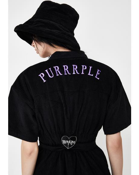 Purrrple Corduroy Jumpsuit