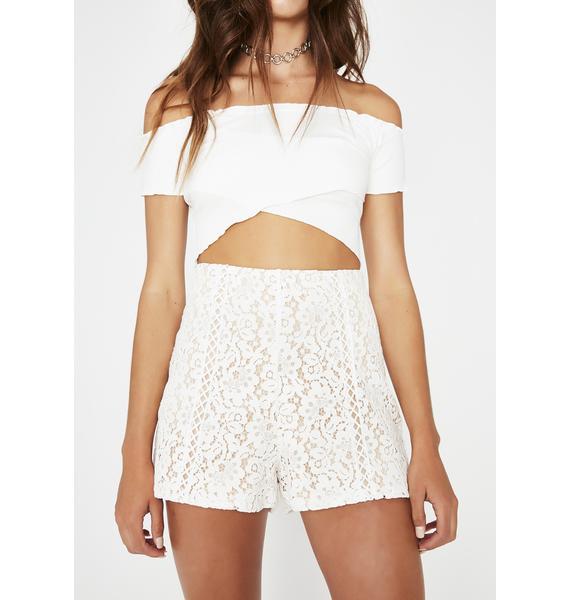Icy Sittin' Pretty Lace Shorts