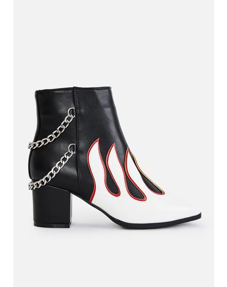 Feel The Fire Ankle Boots