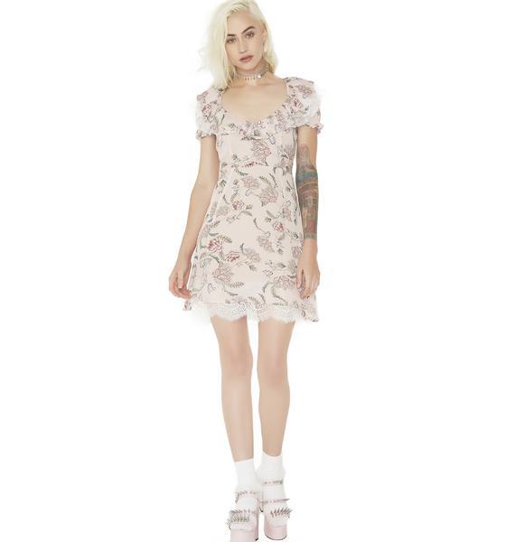 For Love & Lemons Bee Balm Mini Dress