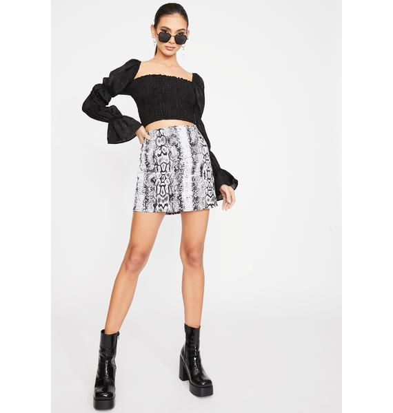Motel Snake Pelmet Mini Skirt