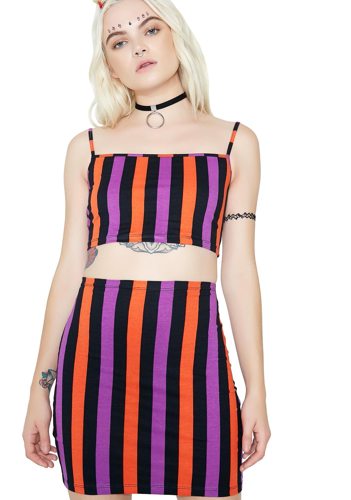 Motel Stripe Kimmy Bodycon Skirt