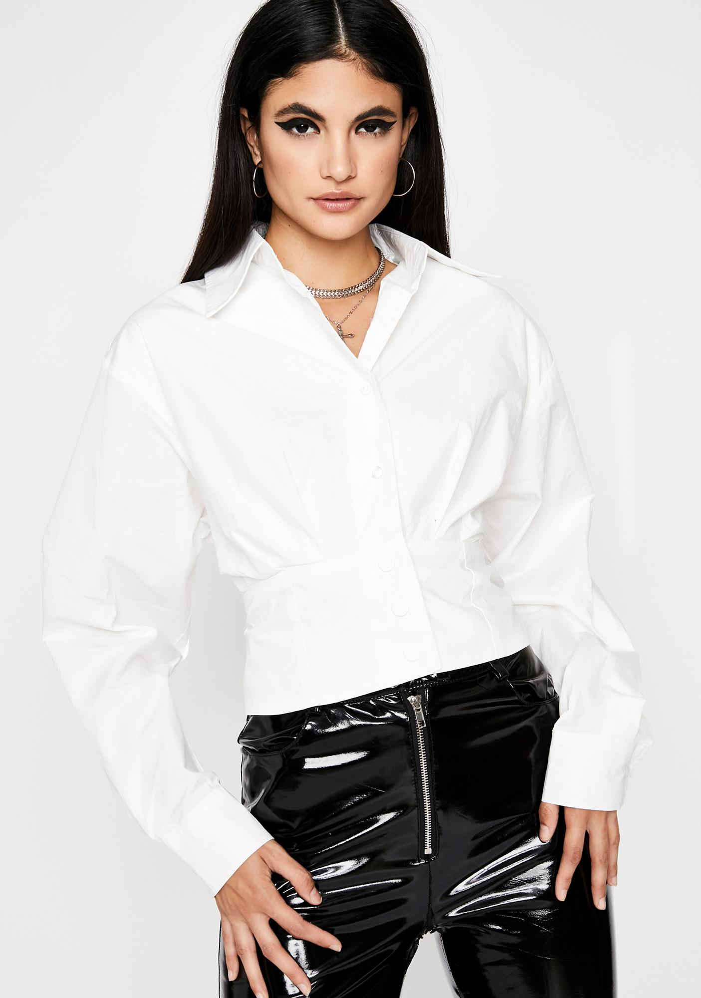 Corporate Heaux Lace-Up Shirt