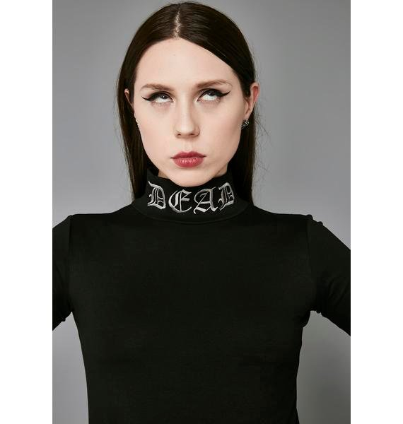 Widow Dead Mock Neck Top