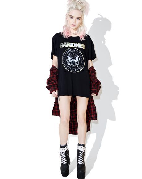 Ramones Seal Shimmer Tee
