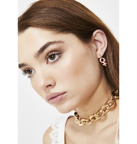 Yellow Owl Workshop Women's Lib Gold Hoop Earrings