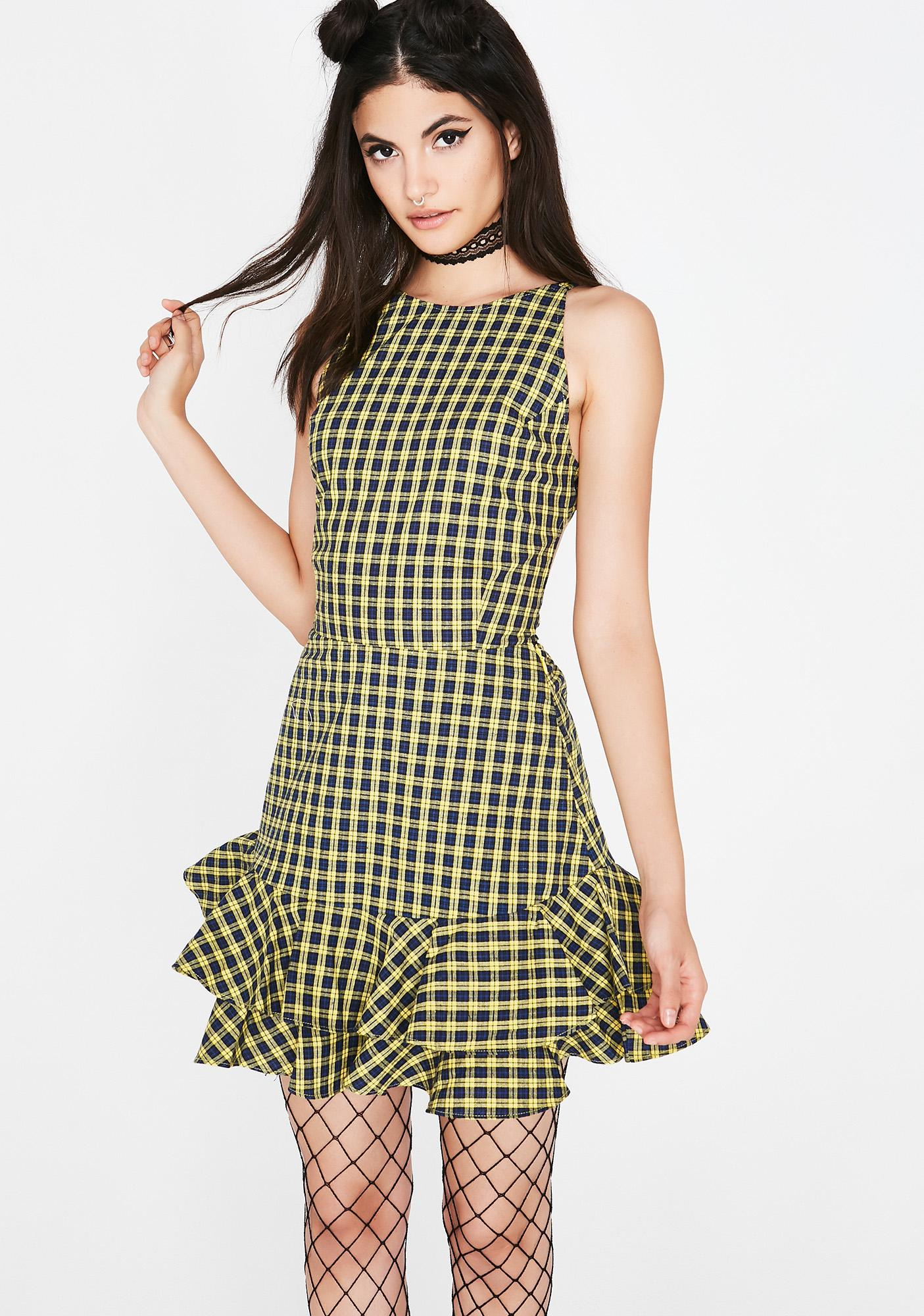 Fool Around Plaid Dress