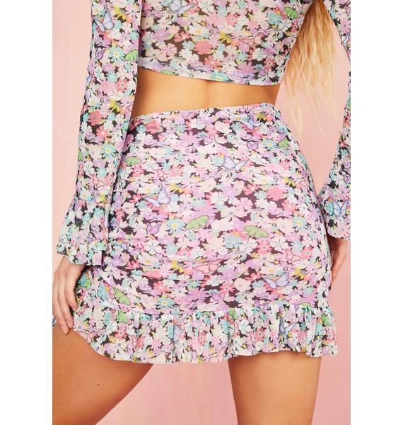 Sugar Thrillz Spring Fever Ruched Mini Skirt
