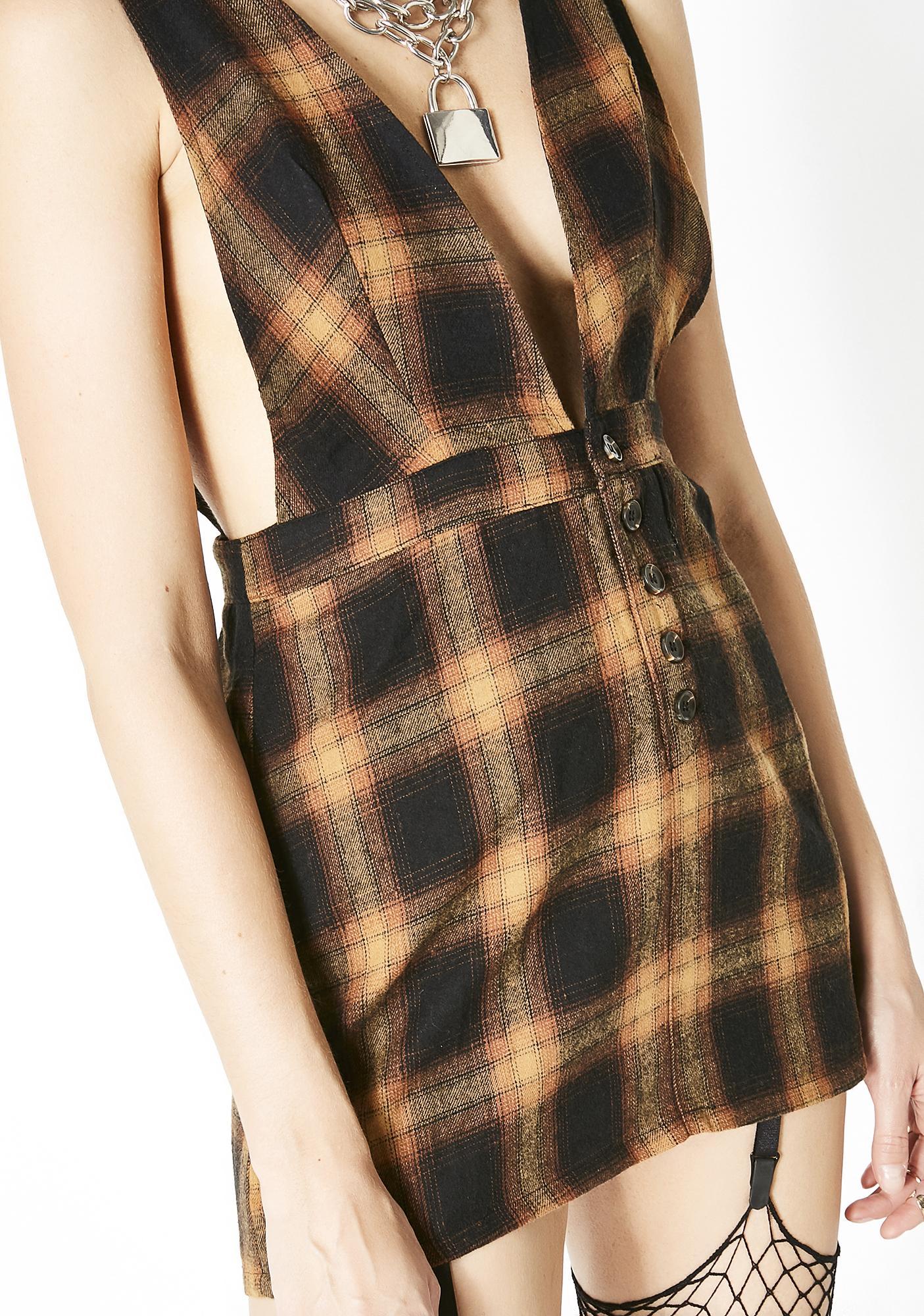 No More Regretting Plaid Dress
