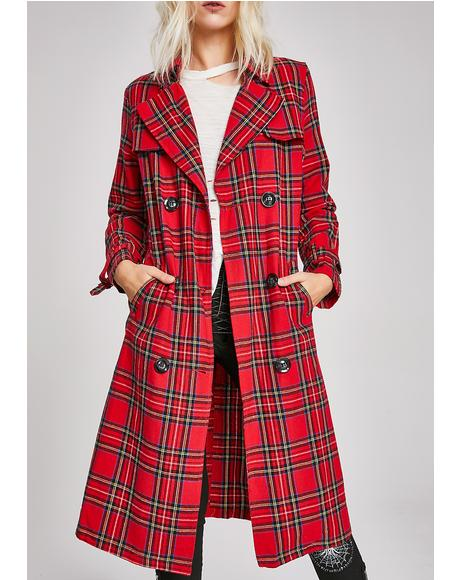 Blaire Plaid Trench