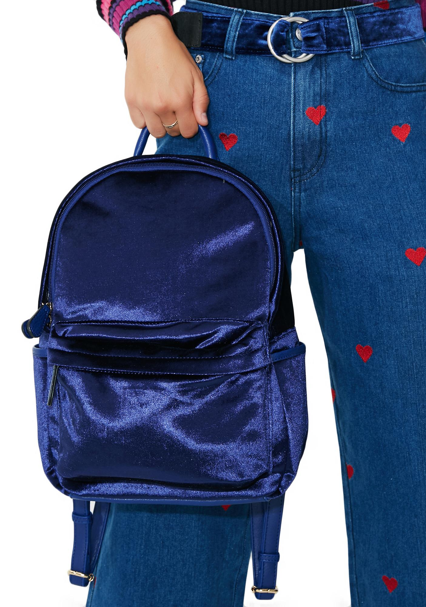Sapphire Smooth Move Velvet Backpack