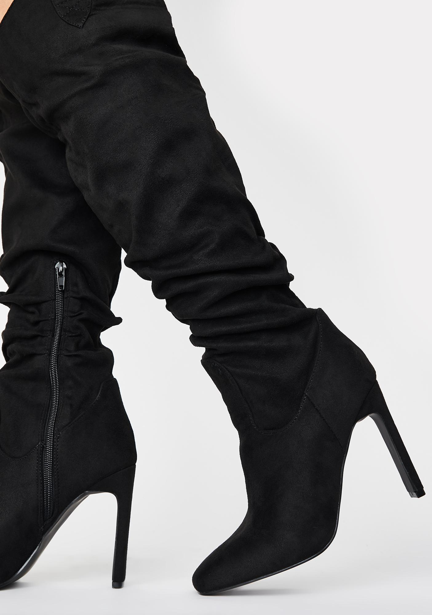 Public Desire Peak Knee High Boots
