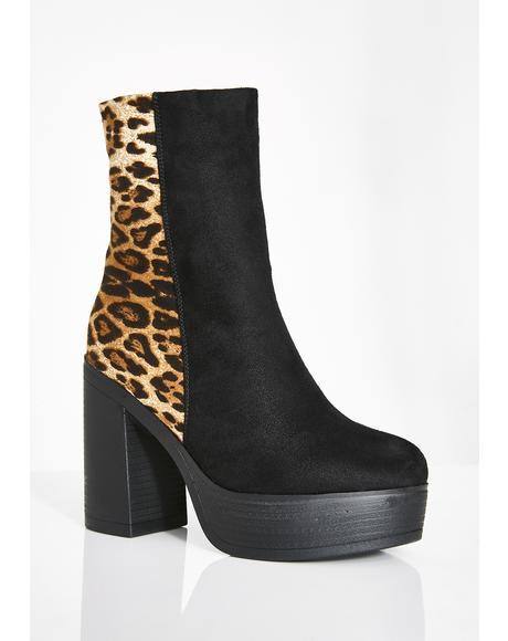 Naleopard Platform Boots