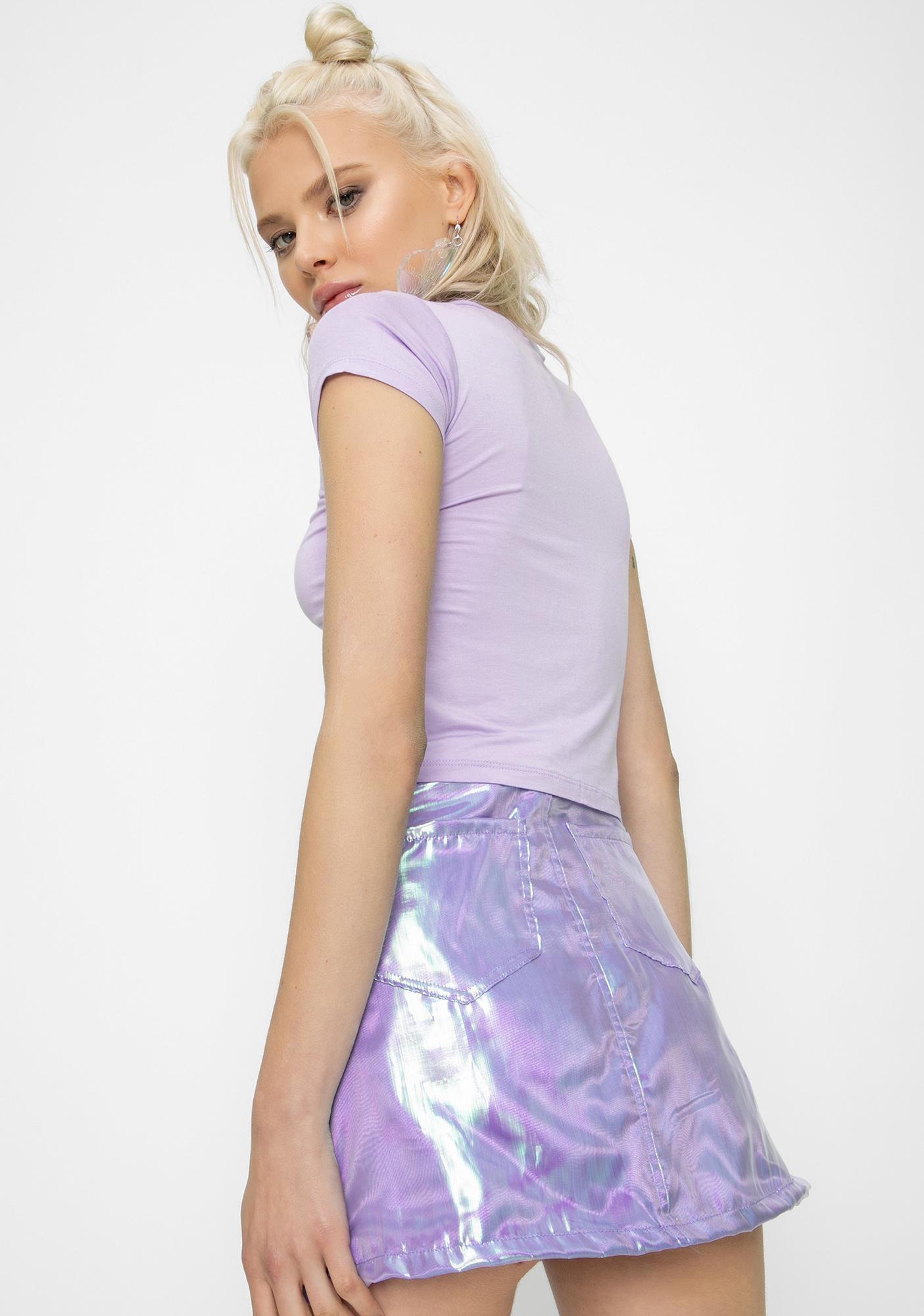 Sparkl Fairy Couture Lilac Fairy Dust Mini Skirt