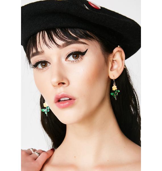 Call A Rose Earrings