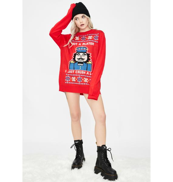 Tipsy Elves I Just Crush A Lot Ugly Christmas Sweater