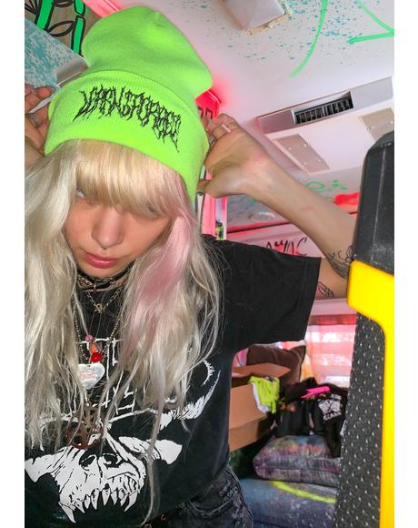 Death Metal Neon Beanie