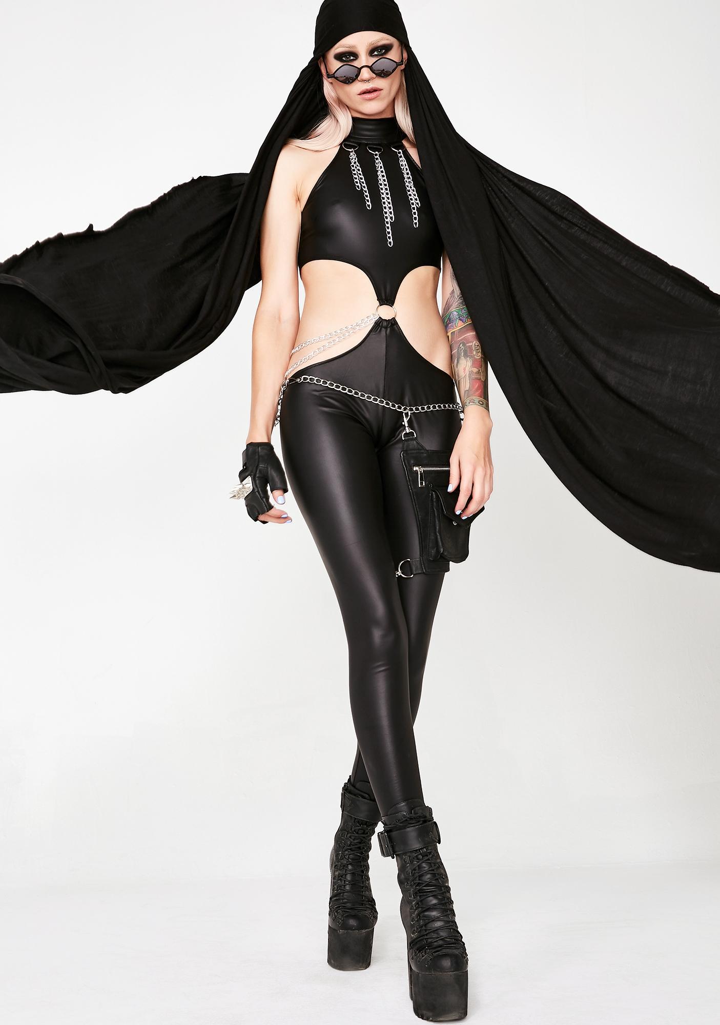 Club Exx Nocturnal Seductress Chain Catsuit
