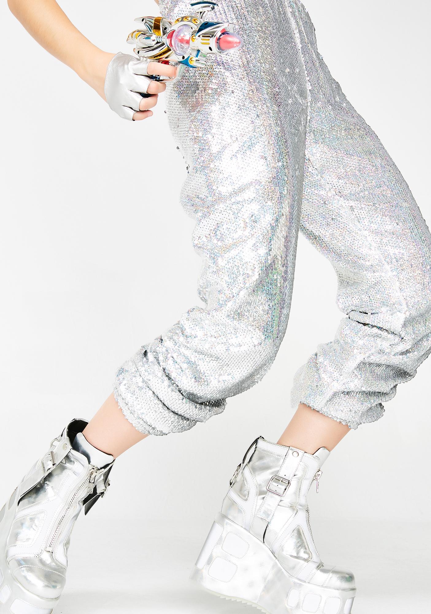 Kuccia Holographic Sequin Joggers