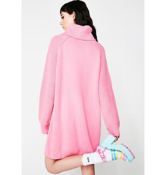 Lazy Oaf Flower Power Sweater Dress