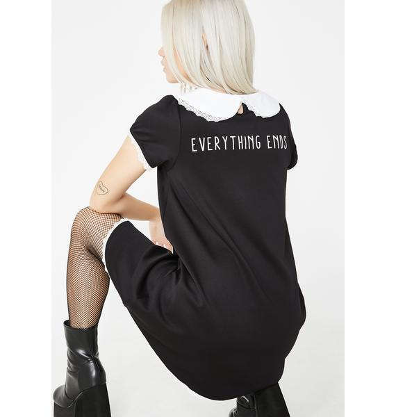 Fearless Illustration Everything Ends Button Down Bambi Dress