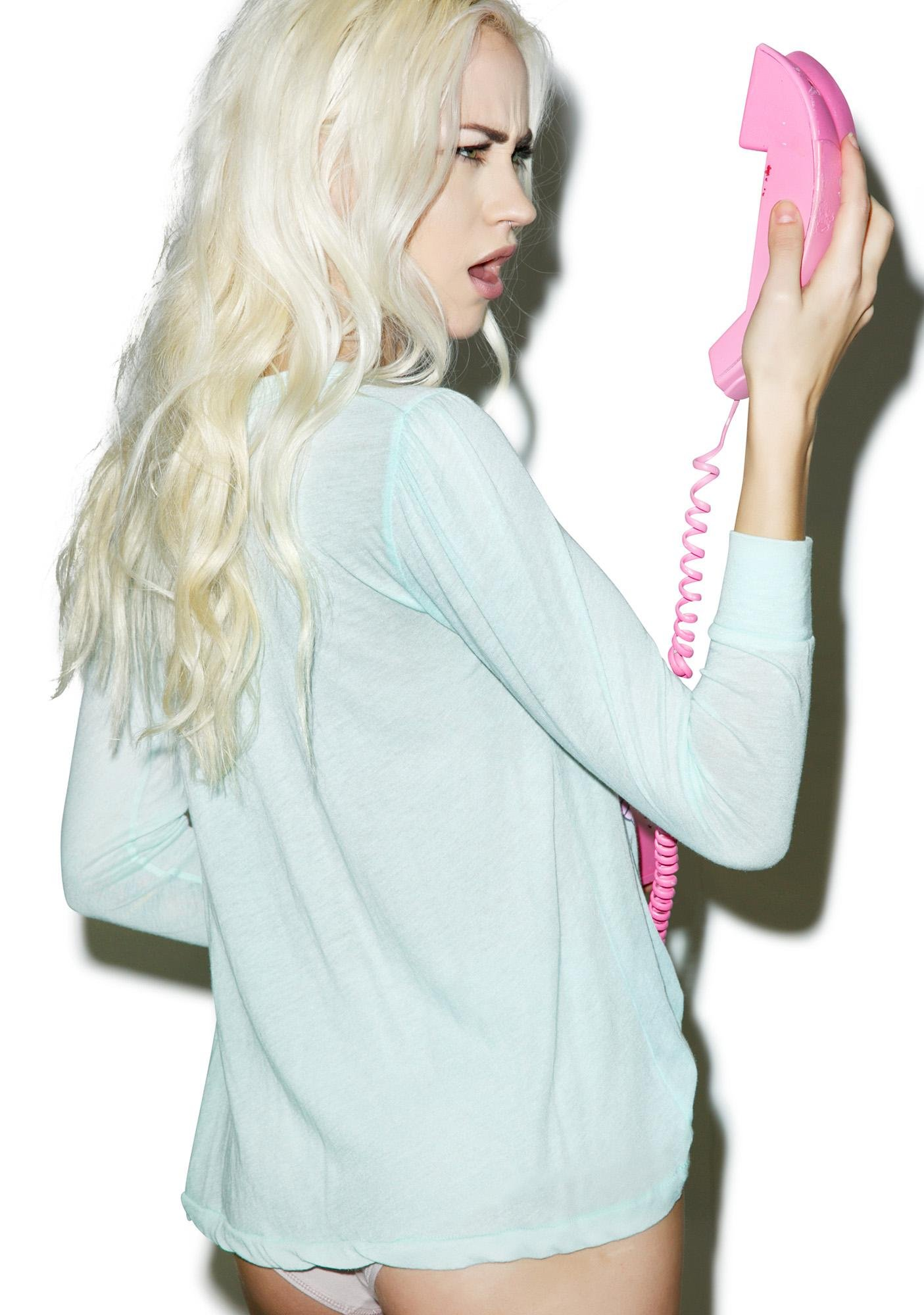 Wildfox Couture Call Don't Text Princess Tee