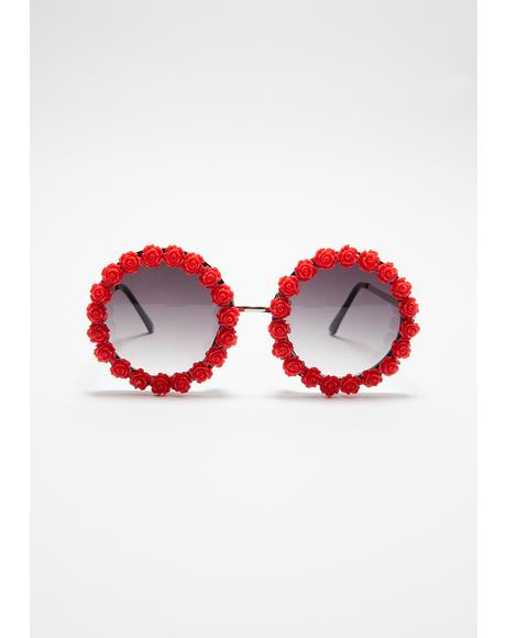 Rosy Days Circle Sunglasses