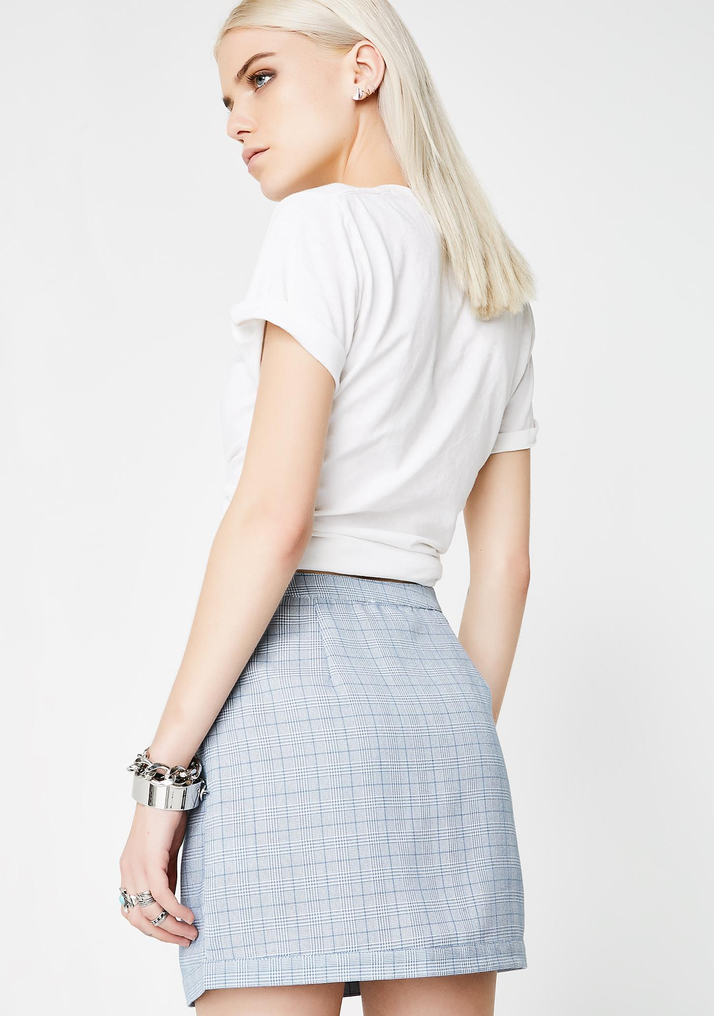 Don't Play Nice Plaid Skirt