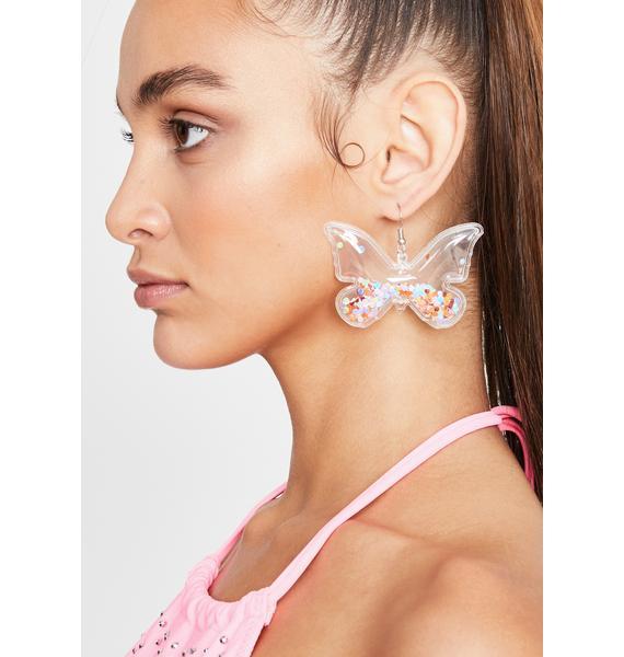 Confetti Flutter Butterfly Earrings