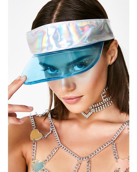 Cobalt Aurora Holographic Visor