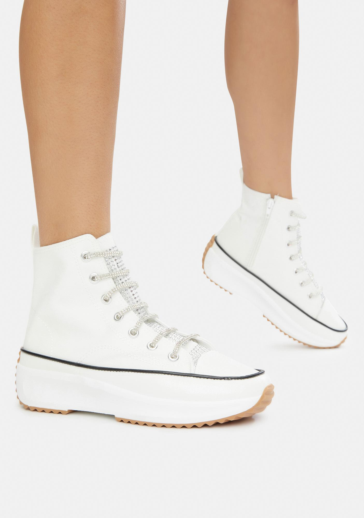 Calm Secret Keeper Hi Top Platform Sneakers
