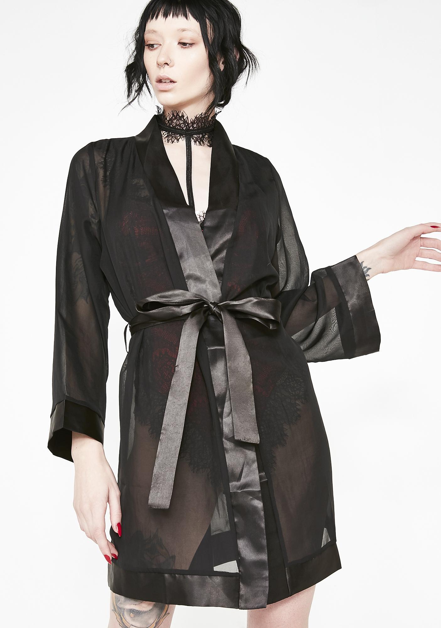 Blue Bella Chiffon Kimono
