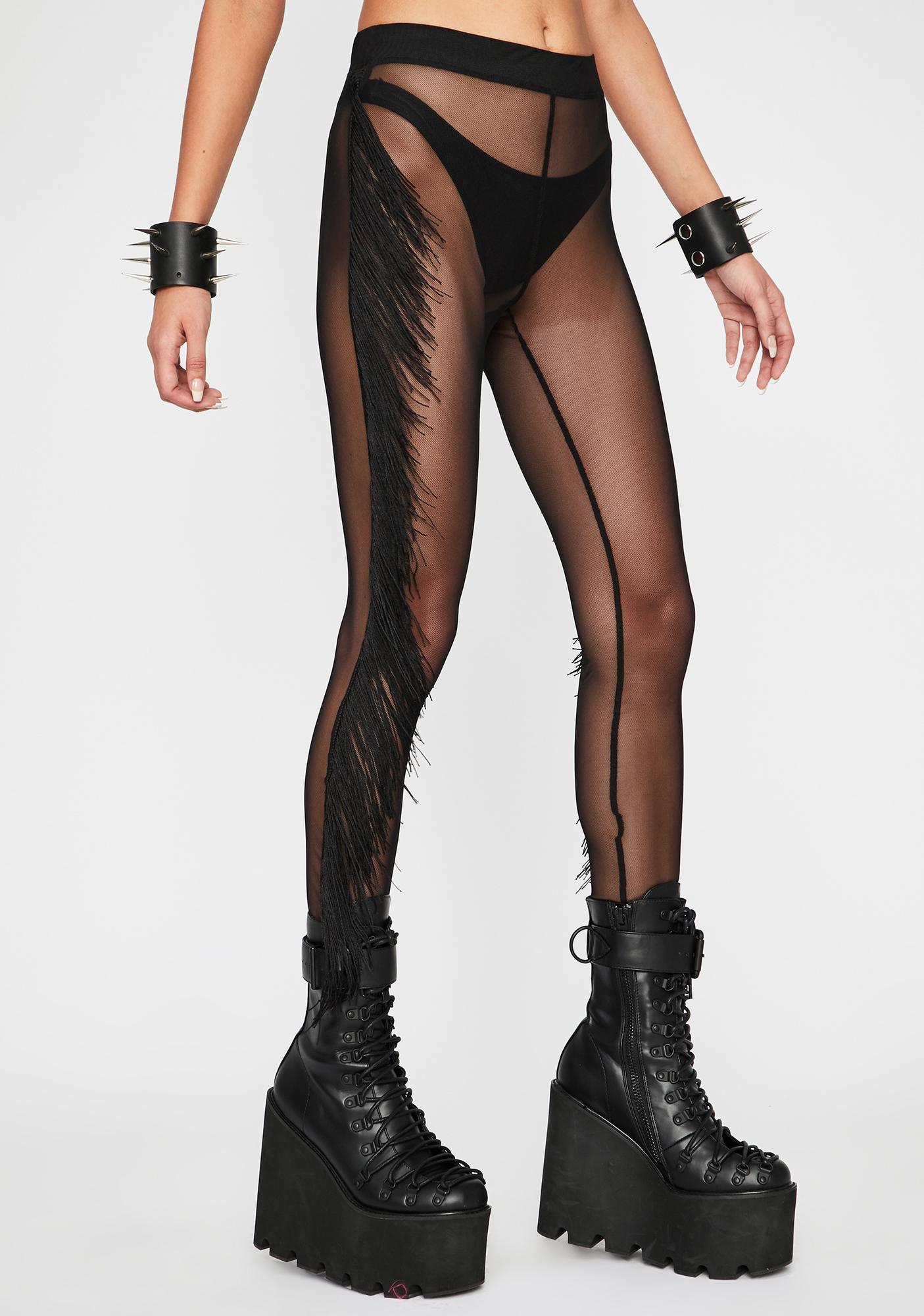 Fringe Fantasy Sheer Leggings