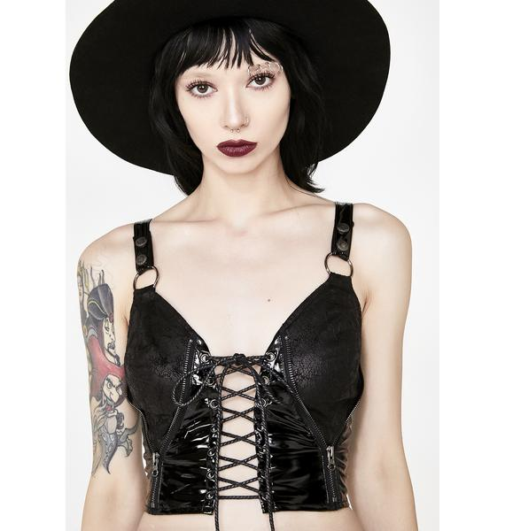 Punk Rave Punk Strap Short Vest